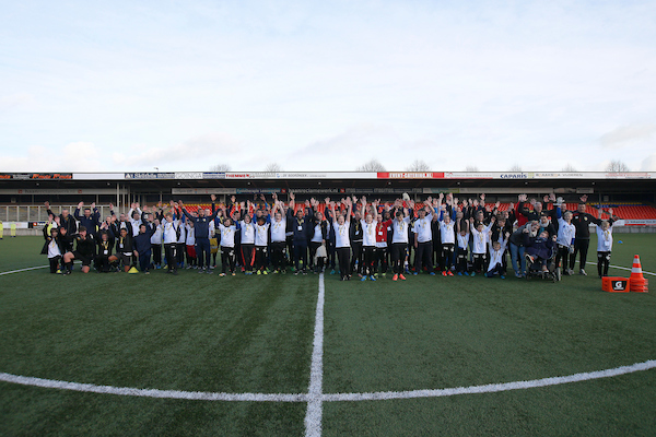 LEEUWARDEN , 16-11-2016 , Cambuur Stadion , G-voetbaldag , sfeerbeeld , teamfoto  foto: Henk Jan Dijks